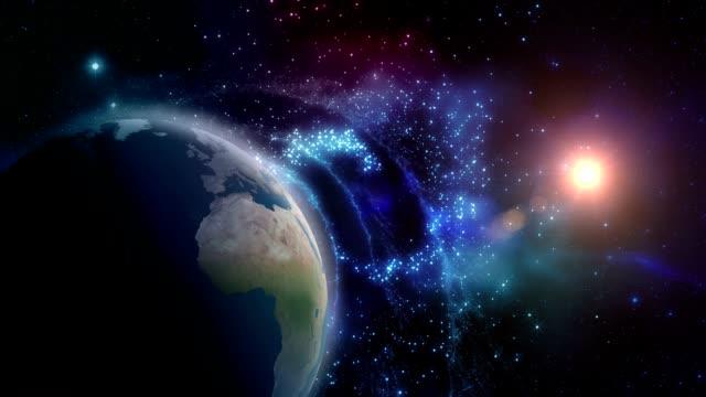 jorden och solen - earth from space bildbanksvideor och videomaterial från bakom kulisserna
