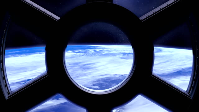 Earth as seen through window of International Space Station ISS. Timelaps. Fast movement. video