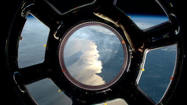 Earth As Seen Through Window Of International Space Station video