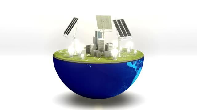 stockvideo's en b-roll-footage met venster van aarde wijzigingen zonne-energie, eco-vriendelijke energie 2. - new world
