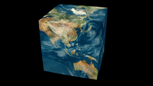 ziemia cube - morfing filmów i materiałów b-roll