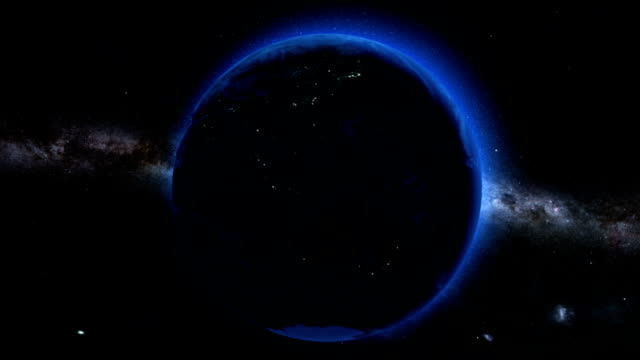Earth Dark Side From Space video