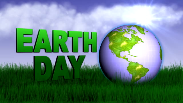 Earth Day, Text and World in Nature video
