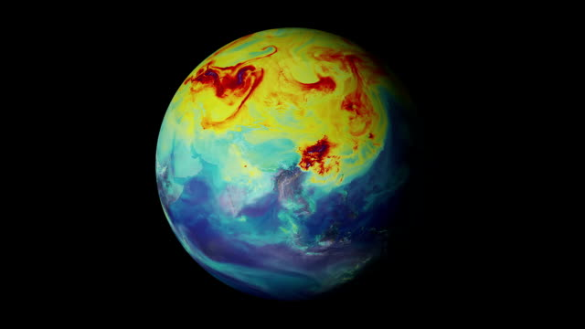 terra riscaldamento globale - clima video stock e b–roll