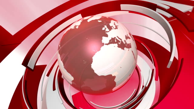 Earth Globe 3D Animation (HD Loop) video