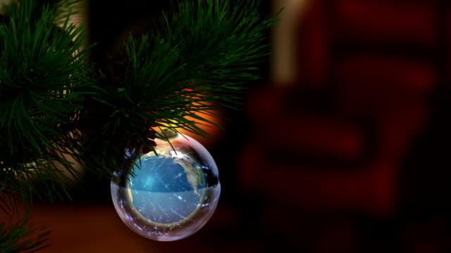 Earth Globe as Christmas Ornament video