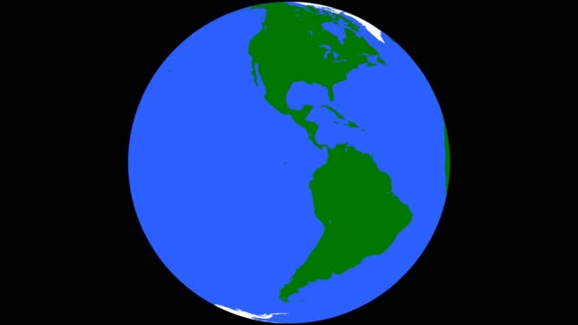 Earth Globe Green Continents Blue Oceans