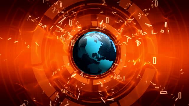 Earth globe spinning video