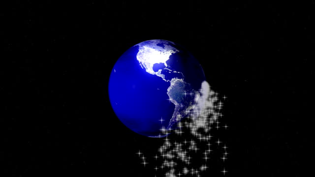 Earth Globe video