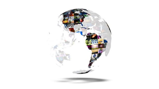 Earth Globe Video Wall video