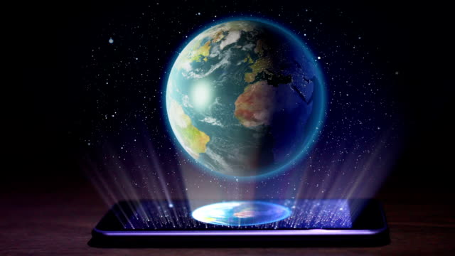 Earth hologram video