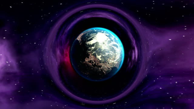 jorden i böjda utrymme - earth from space bildbanksvideor och videomaterial från bakom kulisserna