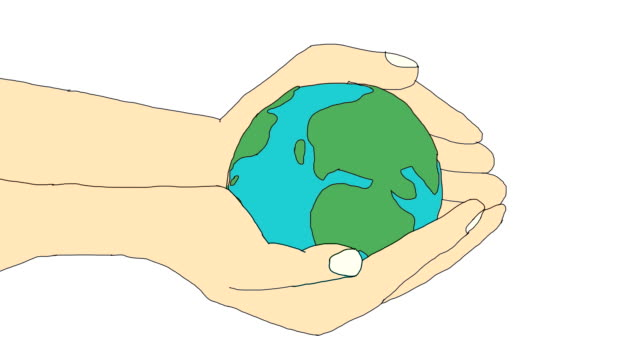 Earth in human hands video