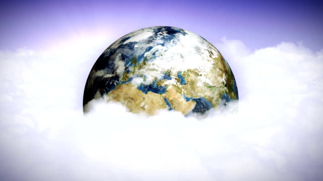 Earth in White Clouds video