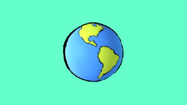 earth map with green background video