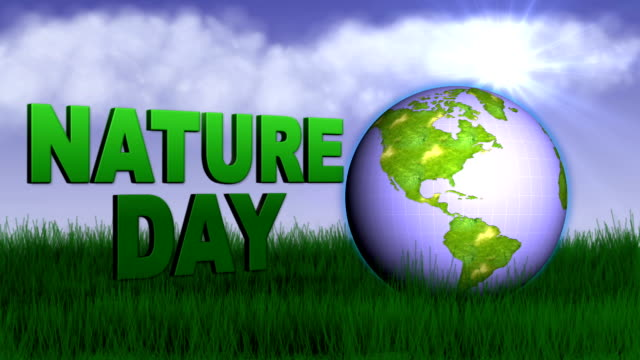 Earth Nature Day Concept - HD1080 video
