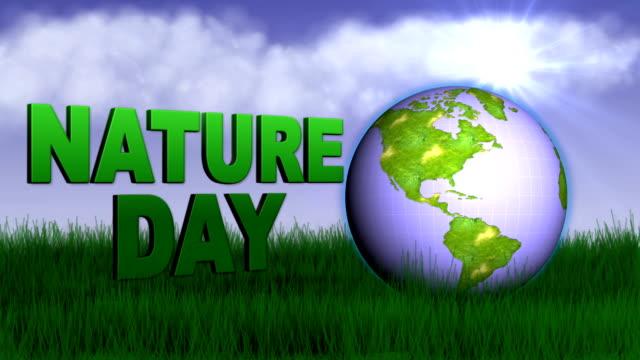 Natur Konzept-Tag der Erde HD1080 – Video