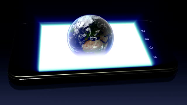Earth on Smartphone video