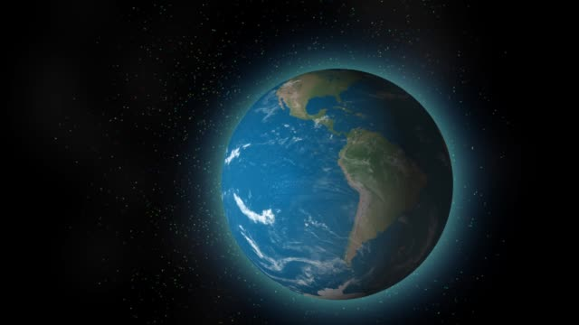 earth planet animation in space - spazio e astronomia video stock e b–roll