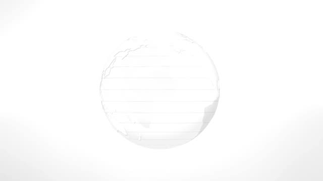 earth planet rotation white globe - glass world video stock e b–roll