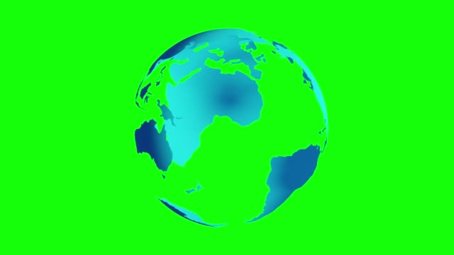 stockvideo's en b-roll-footage met de planeet van de aarde (volledige mening) die 360 graden draait die bij groen scherm wordt geïsoleerd (chromasleutel). 3d-animatie. - new world