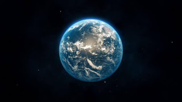 地球回転|ループ可能。 - くるくる回る点の映像素材/bロール