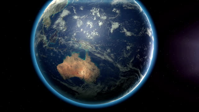 Earth rotation to Chile and country highlight video