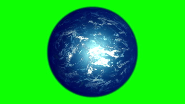 vídeos de stock e filmes b-roll de earth s rotation on green background, seamless loop, 3d animation. - green world