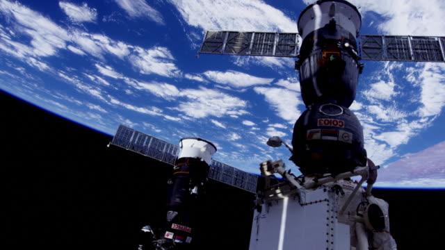 earth seen from space. nasa public domain imagery - вид со спутника стоковые видео и кадры b-roll
