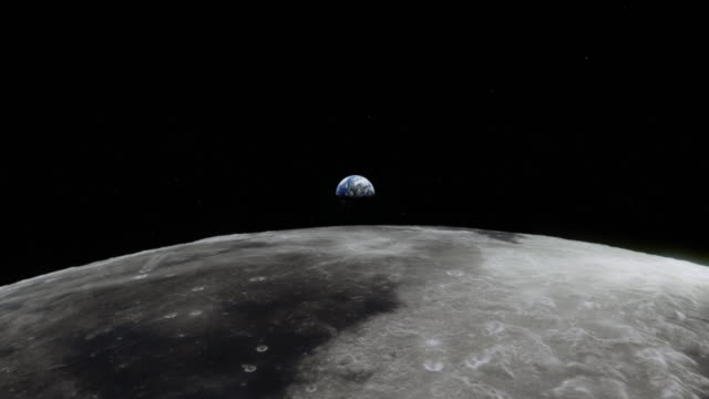 Earth seen from the Moon Flight over the lunar surface. Earth is rising. Computer animation based on NASA/ESA-footage. moon stock videos & royalty-free footage