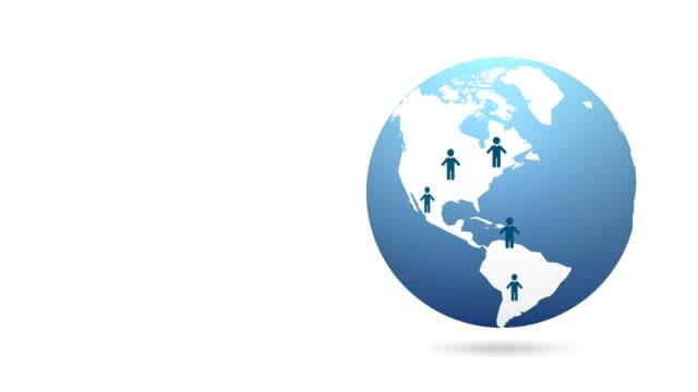 earth social network animation