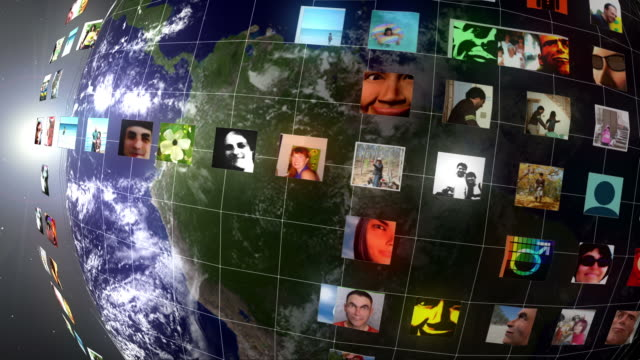 Earth Social Network Profile Picture Grid video