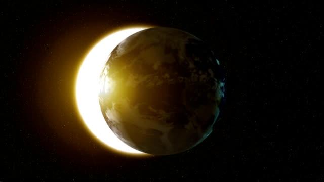 earth solar eclipse - earth from space bildbanksvideor och videomaterial från bakom kulisserna