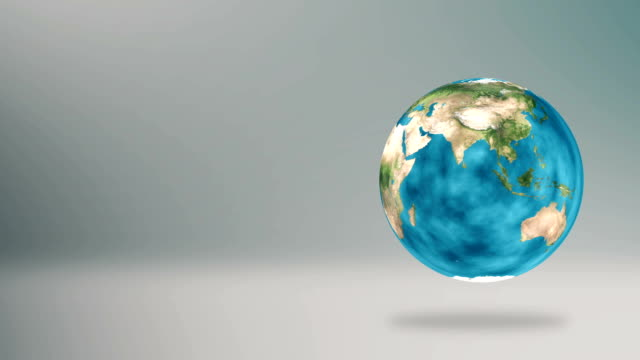 Earth Spinning Infographic Background 3D Illustration video