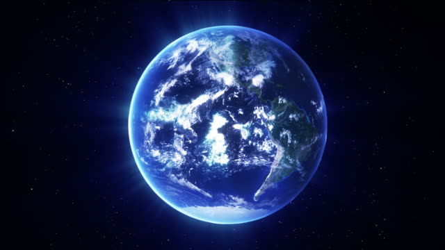 Earth spinning video