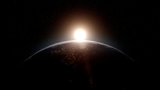 Terre lever du soleil - Vidéo