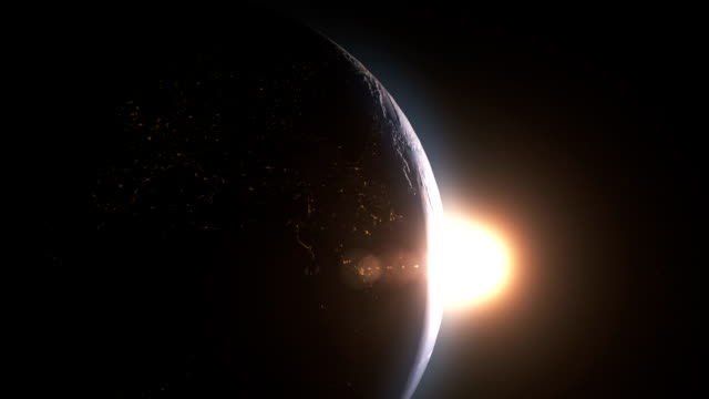 Earth sunrise Cinematic and very realistic sunrise seen from space beauty in nature stock videos & royalty-free footage