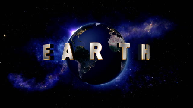 Earth title - the Earth from space showing all they beauty video