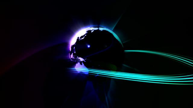 earth turning with green and blue ray - bordsjordglob bildbanksvideor och videomaterial från bakom kulisserna