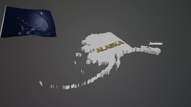 earth usa alaska - alaska stato usa video stock e b–roll