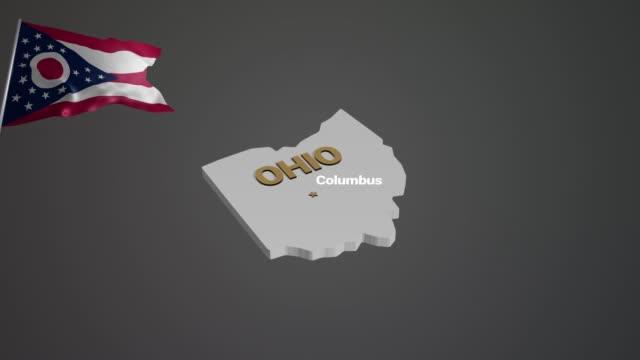 earth usa ohio - columbus day filmów i materiałów b-roll