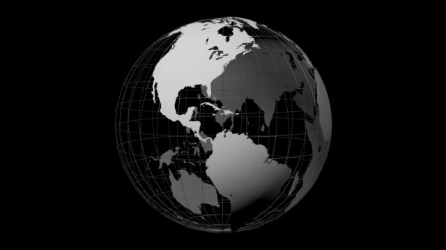 3D Earth 3D Earth with grid on black background.       oceania stock videos & royalty-free footage