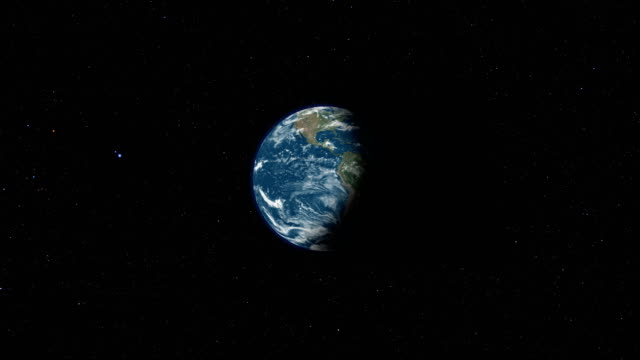 earth view from space loop - roteare video stock e b–roll