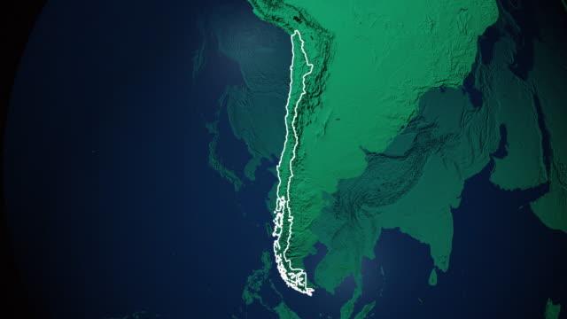 Erde mit Grenzen von Chile digital – Video