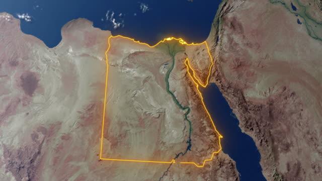 Erde mit Grenzen von Ägypten – Video