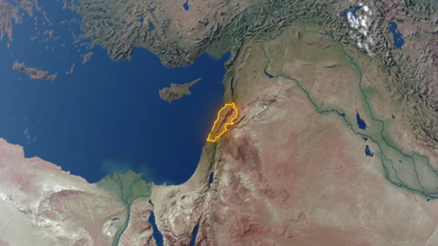 Earth with borders of Lebanon Realistic 3d animated earth showing the borders of the country Lebanon and the capital Beirut in 4K resolution beirut stock videos & royalty-free footage