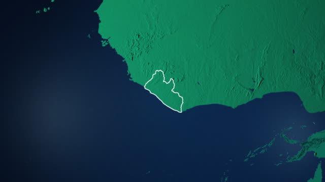 Erde mit Grenzen von Liberia digital – Video