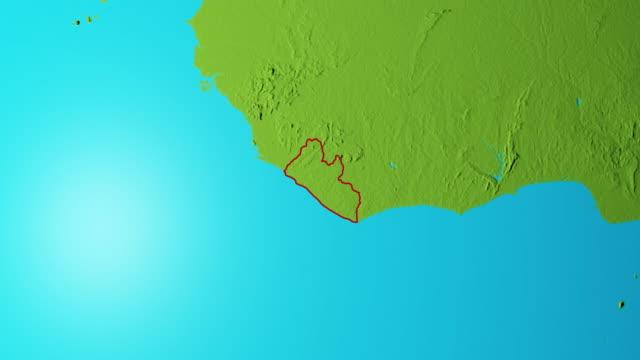 Erde mit Grenzen von Liberia Grafik – Video