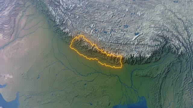 ネパールの国境を持つ地球 - ネパール点の映像素材/bロール