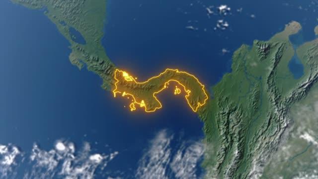 Erde mit Grenzen von Panama – Video
